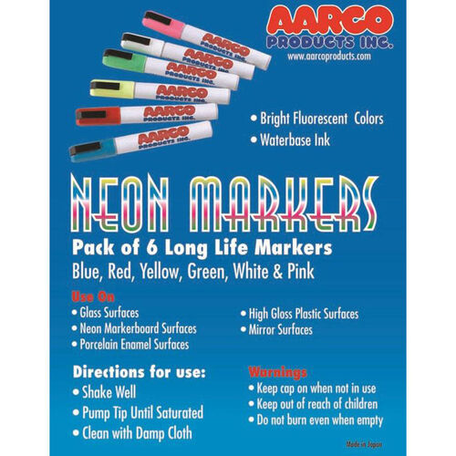 Our Neon Dry Erase Markers - Set of 6 Vivid Colors is on sale now.