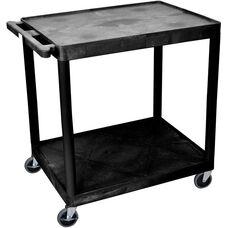 2 Shelf Structural Foam Plastic Utility Cart - Black - 32
