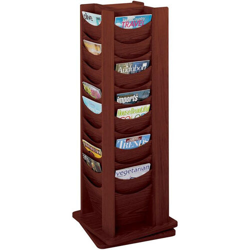 Forty-Eight Scoop Front Solid Wood Pocket on a 360 Degree Rotating Display - Mahogany