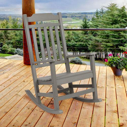 Winston All-Weather Poly Resin Rocking Chair in Gray