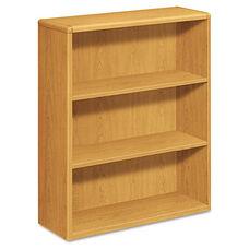 HON® 10700 Series Wood Bookcase - Three Shelf - 36w x 13 1/8d x 43 3/8h - Harvest