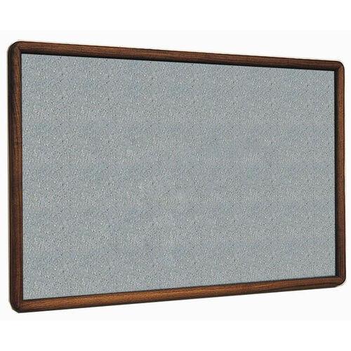 2600 Series Tackboard with Bullnose Wood Face Frame - Claridge Cork - 48