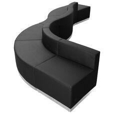 HERCULES Alon Series Black Leather Reception Configuration, 6 Pieces