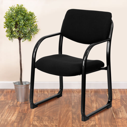 Our Fabric Executive Side Reception Chair with Sled Base is on sale now.