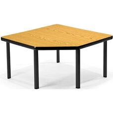 Corner Table with Five Black Legs - Oak