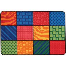 Kids Value Patterns at Play Rectangular Nylon Rug - 48
