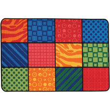 Kids Value Patterns at Play Rectangular Nylon Rug - 48