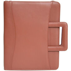 Zip Around Binder Padfolio - Sedona New Bonded Leather - Tan