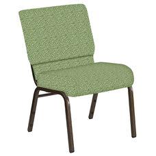 21''W Church Chair in Lancaster Sage Fabric - Gold Vein Frame