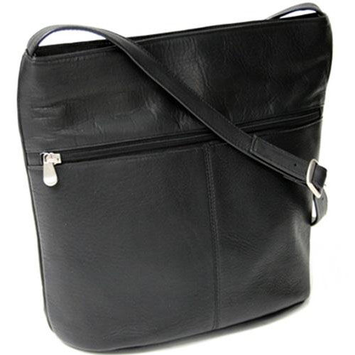 Our Shoulder Bag with Front Zipper - Colombian Vaquetta Leather - Black is on sale now.