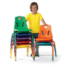 BERRIES® Plastic Chairs with Powder Coated Legs - 10