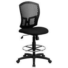 Mid-Back Designer Back Drafting Chair with Fabric Seat
