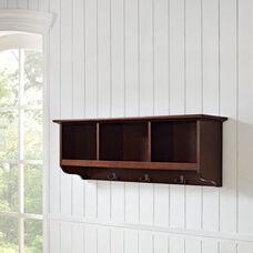 Brennan Entryway Storage Shelf - Mahogany