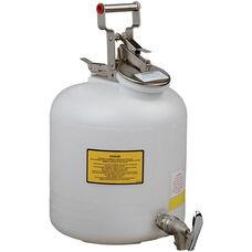 5 Gallon Liquid Disposal Can with Drain Faucet - White