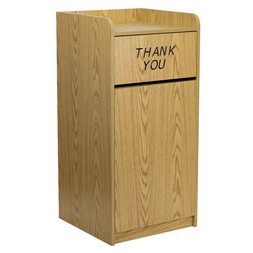 Our Wood Tray Top Receptacle in Oak is on sale now.
