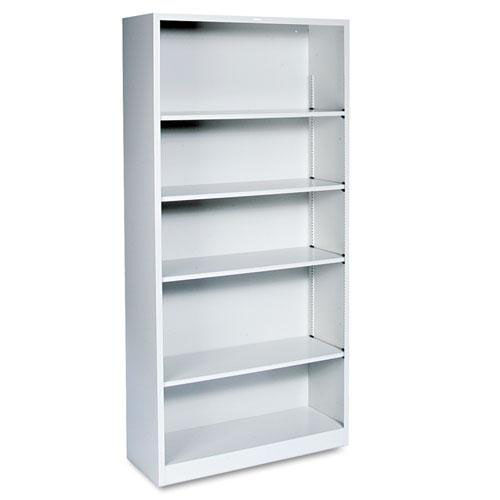 Our HON® Metal Bookcase - Five-Shelf - 34-1/2w x 12-5/8d x 71h - Light Gray is on sale now.