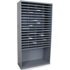 Mailroom 72 Pockets Horizontal Sorter - Slate Gray