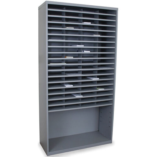 Mailroom 72 Pockets Horizontal Sorter - Slate Gray
