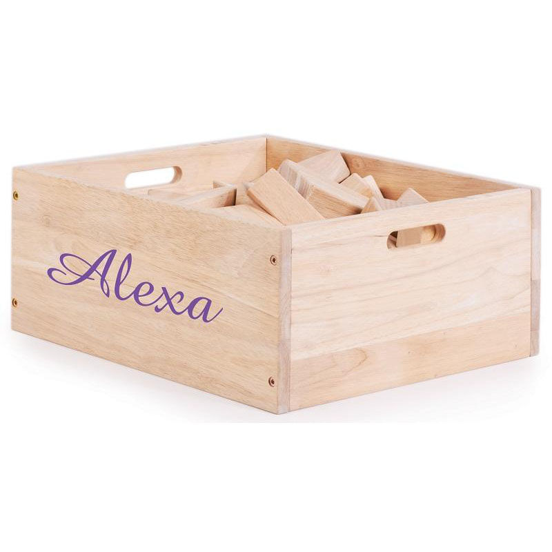 Incroyable ... Our My First Block Box Rubberwood Block Set With Rounded Edges   62  Piece Set Is ...