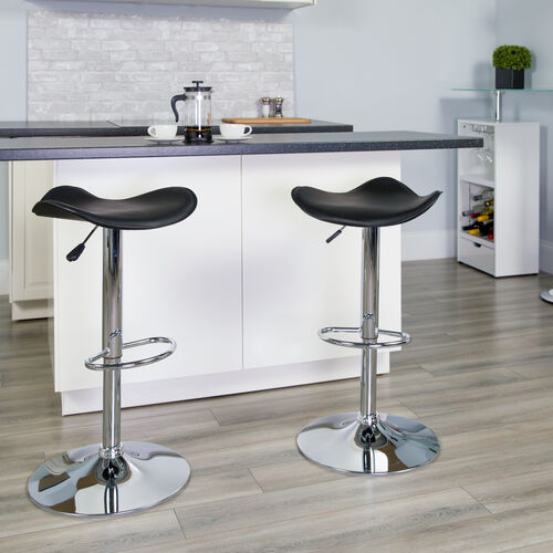 Our Contemporary Vinyl Adjustable Height Barstool with Wavy Seat and Chrome Base is on sale now.