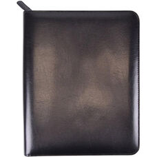 Zip Around iPad Case and Writing Portfolio - Aristo Bonded Leather - Black