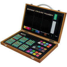 Royal Langnickel Art Adventure Set with Wooden Carrying Case and Assorted Art Supplies - 83 Piece