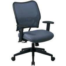 Space VERA Series Deluxe Task Chair with VeraFlex Back - Blue Mist