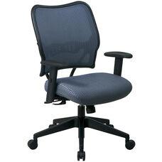 Space VERA Series Deluxe Task Chair with VeraFlex Back - Blue Mist
