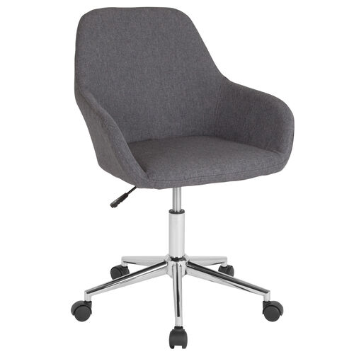 Our Cortana Home and Office Mid-Back Chair in Dark Gray Fabric is on sale now.