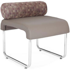 Uno Pillow Back Seat - Plum Back with Taupe Seat