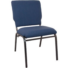 Advantage Navy Multipurpose Church Chairs - 18.5 in. Wide