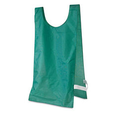Champion Sports Heavyweight Pinnies - Nylon - One Size - Green - 12/Box