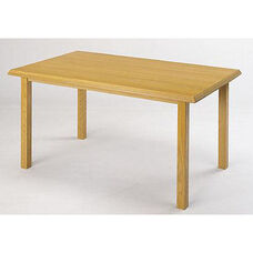 Contemporary Series Wood Conference Rectangular Table with Post Base