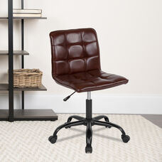 Sorrento Home and Office Task Chair in Brown LeatherSoft