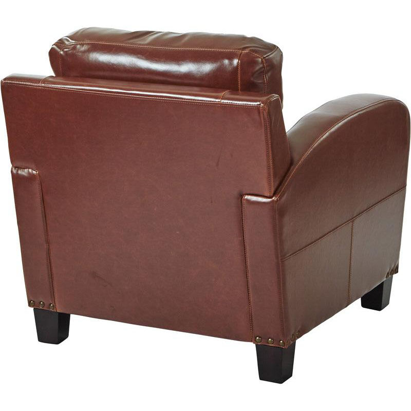 Beau ... Our Inspired By Bassett Jacob Bonded Leather Club Chair With Antique  Bronze Nail Heads   Saddle ...