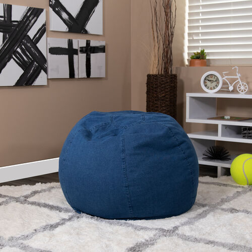 Our Small Denim Bean Bag Chair for Kids and Teens is on sale now.