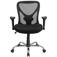 Basics Ergonomic Big & Tall 400 lb. Rated Mesh Swivel Task Office Chair with Height Adjustable Back, Black