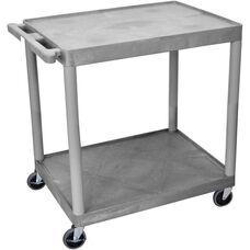 2 Shelf Structural Foam Plastic Utility Cart - Gray - 32