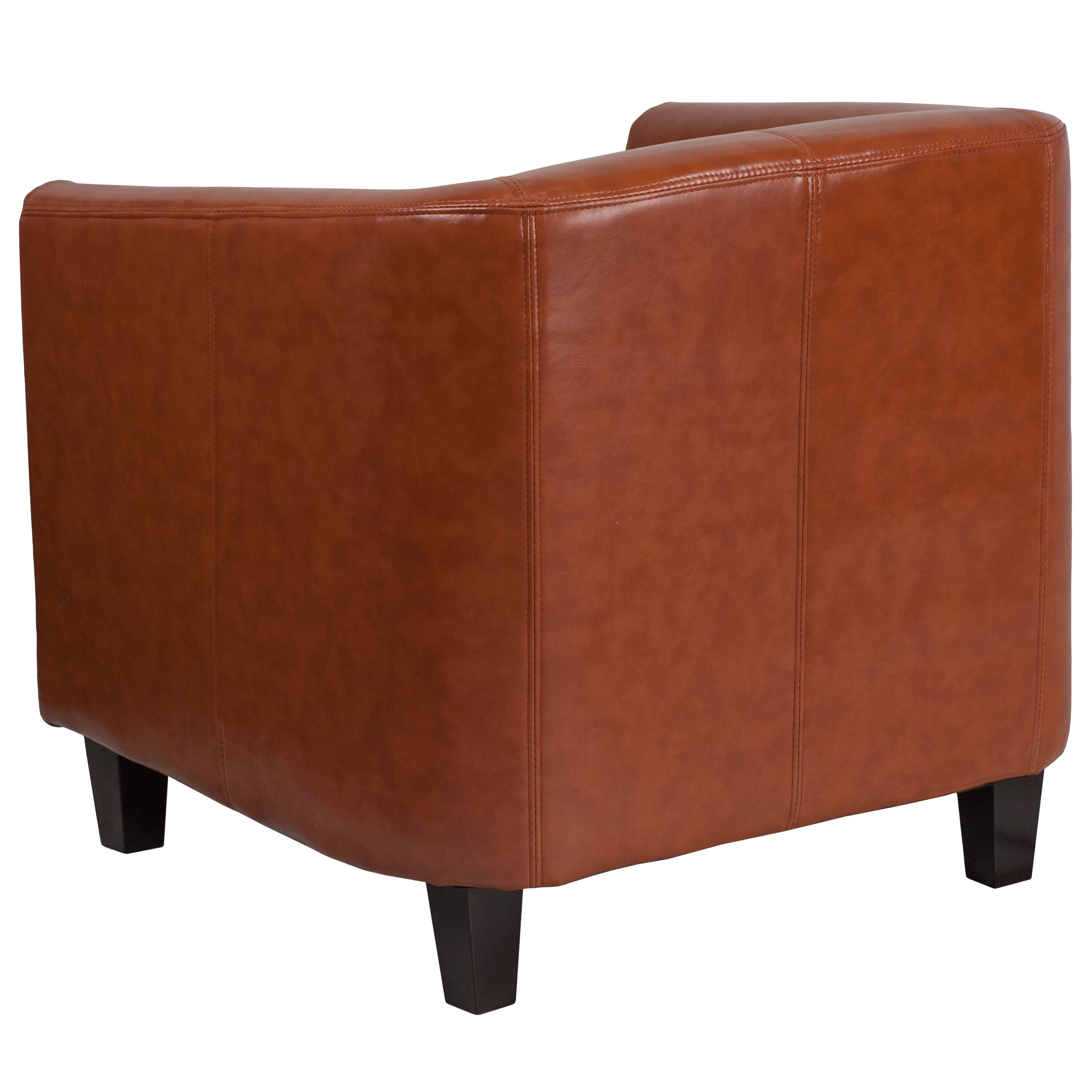 Our Cognac Leather Lounge Chair Is On Sale Now.