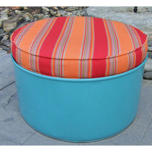 Our Santa Fe Steel Drum Ottoman with Multicolor Accents is on sale now.