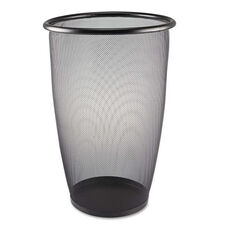 Safco® Onyx Round Mesh Wastebasket - Steel Mesh - 9gal - Black