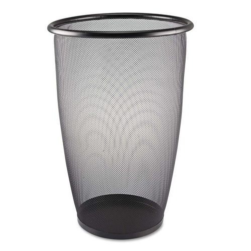 Our Safco® Onyx Round Mesh Wastebasket - Steel Mesh - 9gal - Black is on sale now.
