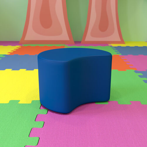 """Soft Seating Collaborative Moon for Classrooms and Daycares - 12"""" Seat Height (Blue)"""