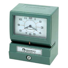 Acroprint Time Recorder Electronic Time Clock & Recorder - Prints hour, minute and day