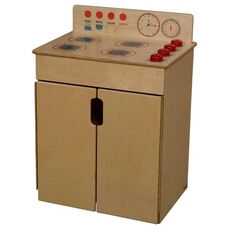 Pretend Play Tip-Me-Not Healthy Kids Plywood Stove - Assembled - 20.5