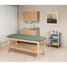 Flat Top H-Brace Treatment Table w/Shelf - 27