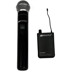 Wireless 16 Channel UHF Handheld Microphone Kit - Black - 7