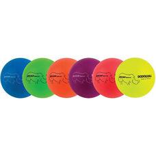 Rhino Skin Neon Rainbow Dodgeball Set Low Bounce