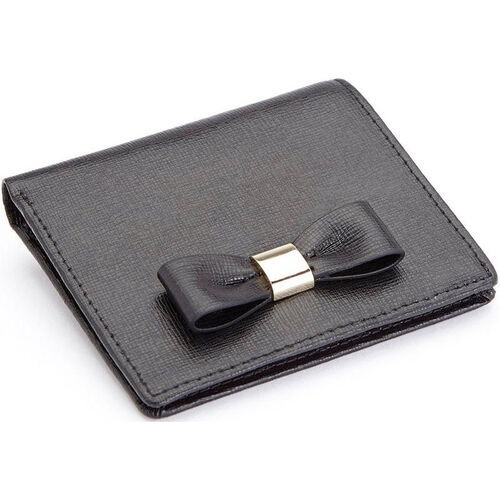 Our RFID Blocking Mini Sarah Bow Wallet - Saffiano Genuine Leather - Black is on sale now.