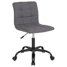 Sorrento Home and Office Task Chair in Dark Gray Fabric